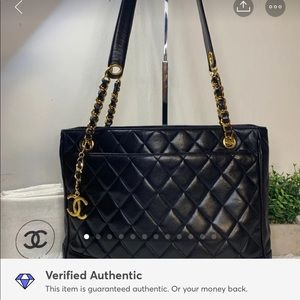 Chanel Matelasse Quilted Lambskin CC Logo Chain